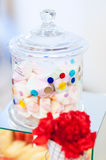 Delightful candy jar Stock Images