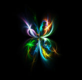 Delightful fractal fireworks butterfly Royalty Free Stock Image