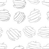 Delightful garden - Seamless pattern of a lot of sliced apples Stock Photography