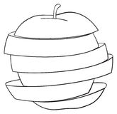 Delightful garden - Sliced apple 2 Royalty Free Stock Images