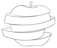 Delightful garden - Sliced apple 3 Royalty Free Stock Photos