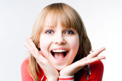 Delightful girl Stock Photo