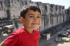Delightful little boy portrait. royalty free stock photo