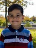 Delightful little boy portrait. royalty free stock image