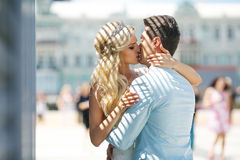 Delightful man and woman Royalty Free Stock Images
