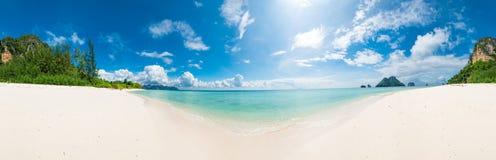 Delightful panorama Poda island on a sunny day. Thailand Royalty Free Stock Photos