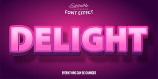 Free Delightful Pink Text Style, Editable Text Effect Stock Images - 184798674
