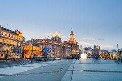 Delightful scenery of the bund in shanghai Royalty Free Stock Photography