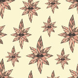 Delightful seamless pattern made of  flowers in vintage colors Royalty Free Stock Photos