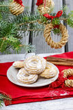 Delightful traditional christmas cookies Royalty Free Stock Photography