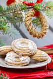 Delightful traditional christmas cookies Stock Photography