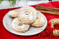 Delightful traditional christmas cookies Royalty Free Stock Photos