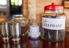 Delightful Vietnamese elephant coffee Stock Photography