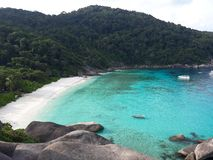 Azure water of the Similan islands royalty free stock photo