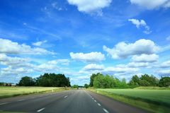 A delightful view of a road in the horizon Royalty Free Stock Images