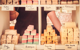Delights' Stall - Cake Bars Royalty Free Stock Photos
