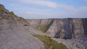 Delika Canyon with seasonal tributary of the river Nervion, Spain. Delika Canyon and dry bottom of seasonal tributary of the river Nervion, Spain stock footage