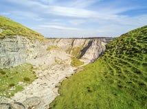 Delika jar z sezonowym dopływem rzeczny Nervion, Spai fotografia stock