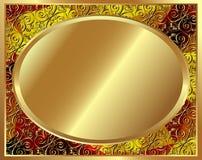 Delikat guld- ram med modell 3 Royaltyfri Fotografi
