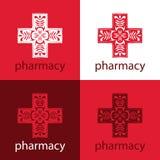 Röd medicinlogo Fotografering för Bildbyråer