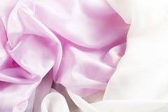 Delikat rosa silke Fotografering för Bildbyråer