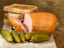 Delikatess liver sausage Stock Image