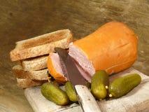Delikatess liver sausage Royalty Free Stock Photo