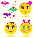 Delikatesy kızlarla renkli ifadeler Zdjęcie Royalty Free