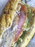 Delikatesy okrętu podwodnego kanapka Zdjęcie Stock