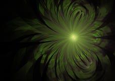 Delikatna i miękka fractal zieleń kwitnie komputer wytwarzającego wizerunek dla logo, projektów pojęcia, sieć, druki, plakaty Kwi zdjęcie stock