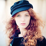 Delikatna młoda kobieta Outdoors Obrazy Stock