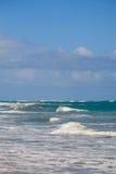 Delikatne fala na morzu karaibskim obrazy royalty free