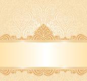 Delikatnego brzoskwini ślubnego zaproszenia kwiecisty tło Fotografia Royalty Free