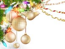 Delikatni boże narodzenie ornamenty 10 eps Zdjęcie Stock
