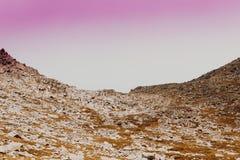 Delikatnie połodzy wzgórza i pastelowi kolory Fotografia Royalty Free