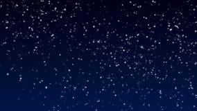 Delikatnie spada ?nieg Duzi i mali płatek śniegu wolno opuszcza w wiatrze ilustracja wektor