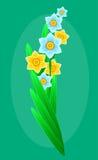 Delikatny bukiet wiosna las kwitnie dla twój projekta szczegółowy rysunek kwiecisty pochodzenie wektora wektor Obrazy Stock