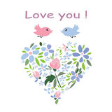 Delikatny kwiatu serce Fotografia Royalty Free