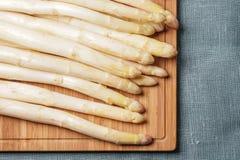Delikatny organicznie biały asparagus Fotografia Royalty Free