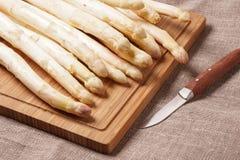 Delikatny organicznie biały asparagus Obraz Stock