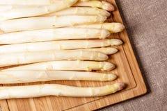 Delikatny organicznie biały asparagus Zdjęcia Stock