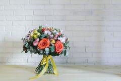 Delikatny pi?kny bukiet kwiaty zamkni?ci w g?r? zdjęcie royalty free