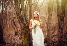 Delikatny portret blondynka Obrazy Royalty Free