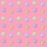 Delikatny różowy Bożenarodzeniowy bezszwowy wzór z piłkami Obrazy Royalty Free