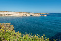 Delimara Coast in the South of Malta. Delimara Coast on a clear winter day in the South of Malta Royalty Free Stock Photo