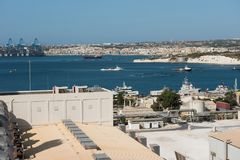 Delimara-Kraftwerk Marsaxlokk, Malta Lizenzfreies Stockfoto