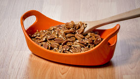 Delious Pecans in a bowl ready to eat Royalty Free Stock Photography