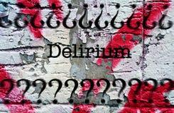 Delirium grunge concept royalty-vrije stock afbeeldingen