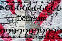 Delirium grunge concept. Close up of Delirium grunge concept Royalty Free Stock Images