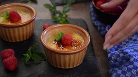 Delish footage video food, stock footage. Food photography, food stock, place for advertisment stock footage